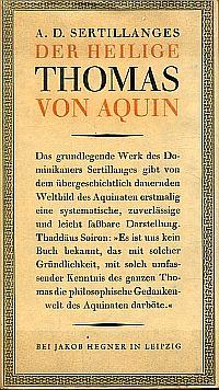 Der heilige Thomas von Aquin.